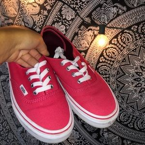 Teaberry Colored Vans